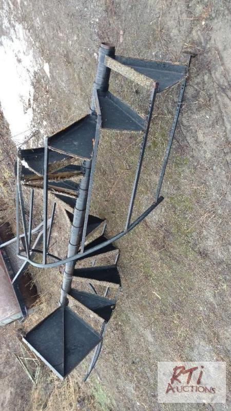 Spiral Staircase Used 8 Ft High To Top Land